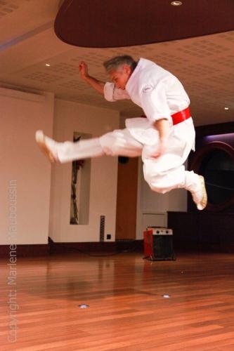 Démo - forme holsaegim coup de pied sauté @ Gala Racines Coréennes ©Marlène Mauboussin