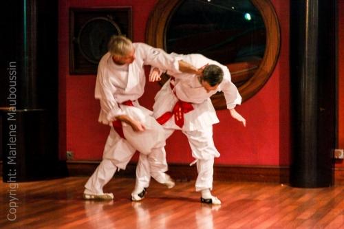 Démo - combats Kyorugi @ Gala Racines Coréennes ©Marlène Mauboussin